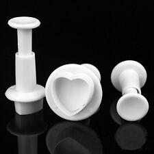 Heart Plunger Mold Sugarcraft Cutter Decor Paste Tools Fondant Cake Decorating