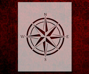"""Nautical Compass Wind Rose 8.5"""" x 11"""" Stencil FAST FREE SHIPPING (751)"""