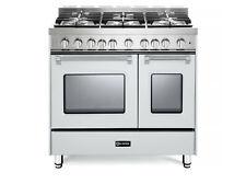 "Verona Prestige Vpfsgg365Dw 36"" All Gas Range Double Oven 5 Burner True White"