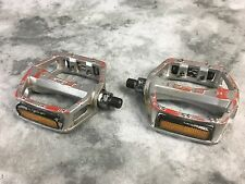 "GT Red Alloy BMX 1/2"" Freestyle Pedals old mid school"