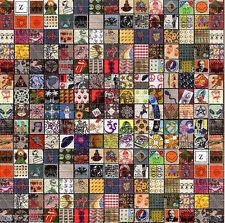 CLASSIC VINTAGE BLOTTER SAMPLER large  BLOTTER ART LSD Acid Art paper sheet tabs