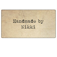 48 x parchemin Vintage Shabby Chic à la main par des étiquettes autocollants personnalisés-027