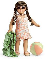American Girl MOLLY'S SWIMSUIT with SUNGLASSES,TOWEL,BEACH BALL ~NIB ~Retired