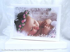 PERSONALISED WITH YOUR OWN  PHOTO * CHRISTENING * NAMING DAY* BAPTISM GUEST BOOK