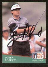 Loren Roberts signed autograph 1991 Pro Set Golf No 149