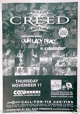CREED / OUR LADY PEACE / OLEANDER 2000 SAN DIEGO CONCERT TOUR POSTER