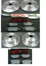 TOYOTA CELICA 1.8VVTI 190 IMPORT DRILLED GROOVED BRAKE DISC & MINTEX PADS