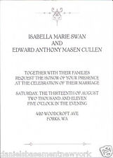 Twilight Breaking Dawn Part 1 Wedding Invitation & Envelope Officially Licensed