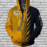 Jeep Wrangler/YJ/TJ/JK/JL/Rubicon/Men's Zip Hoodie 3D-Size S to 5XL-Hot Gift