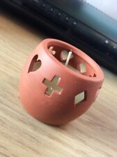 Small Pottery Candle Holder With Original Candle