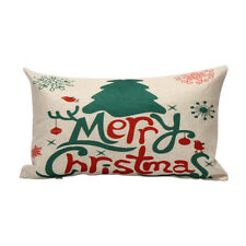 Home Decoration Pillow Case Cushion Merry Christmas Letter Sofa Bed Cover Linenv #5