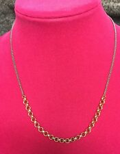 Fossil Brand Brushed Two Tone Link And Crystal Accent Necklace JOA00301998 NWT