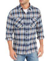Pendleton Mens Shirt Blue Size Large L Burnside Flannel Plaid Button Up $79 081