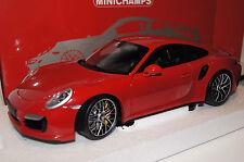Porsche 911 Turbo S (991) 2013 rot 1:18 Minichamps neu & OVP 110062320