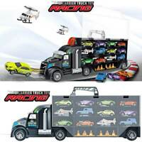 2019 Transporter Truck Diecast Toy ,Helicopter,Car Large Storage Carry Case Cars