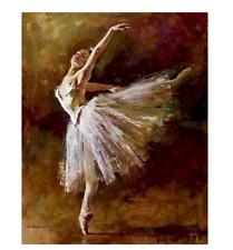 Ballet Dancer Painting By Numbers Women Figure Canvas Painting Handpainted Diy