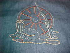 Decorative Embroidered Western Themed Pillow Sham