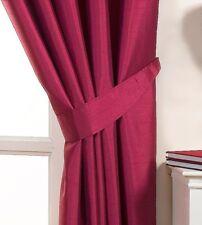 Ravello Fuschia Bright Pink Faux Silk Tie Backs for Curtains