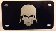 Helmet Skull Black Motorcycle License Plate tag