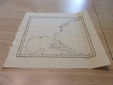 1905 Sketch Map of East Sea Coast U.S. and Cuba, Haiti, Puerto Rico