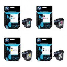 4 x Druckkopf HP DesignJet 110Plus 111 500 510 800 PS / Nr. 11 / BK + C + M + Y