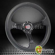 "330mm Black 2"" Deep Dish Steering Wheel Black Stitching Honda EF EG EK DEL SOL"