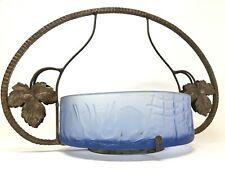 Coupe Verre & Fer Forgé Art Déco Décors de Lapin & Feuilles de Vigne  Glass Cup
