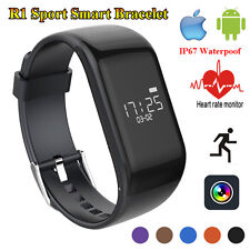 R1 Smart Wristband Watch Bracelet OLED Heart Rate Monitor Sport Fitness Tracker
