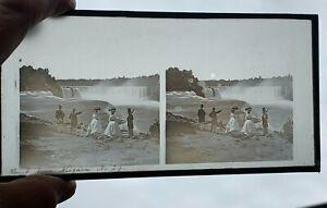 ANTIQUE 19TH CENTURY STEREOSCOPE GLASS SLIDE PHOTOGRAPH NIAGARA FALLS