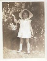 SWEET PORTRAIT Vintage FOUND PHOTOGRAPH bw LITTLE GIRL Original Snapshot 03 4