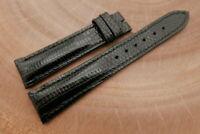 19mm/16mm Black Genuine LIZARD Skin Leather Watch Strap Band