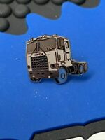 1980's Vintage Semi Truck (Small) tan/blue hat pin, lapel, tac-Brand New!
