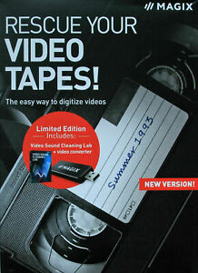 MAGIX Rescue Your Videotapes New Version Windows 10 - Boxed