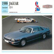 Jaguar XJR-S V12 Coupé Sport Luxe 1988 GB/UK CAR VOITURE CARTE CARD FICHE