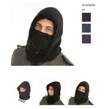 Hoody Scarf Tube Face Mask Fleece Snood Hood Neck Warmer Balaclava Black