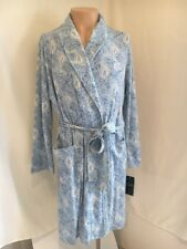 Lauren Ralph Lauren Blue Paisley XL Bathrobe Soft With Pockets and Sash 41401b843