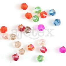 72/100pcs 4/6/8/10mm Helix Faceted Loose Crystal Beads Crafts Jewelry Making