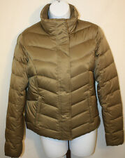 Eddie Bauer EB550 Womens Ladies Olive Green Goose Down Winter Puffer Jacket XS
