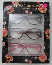NEW Betsey Johnson 3 PAIRS Reading Glasses Readers +2.50