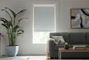 CUT TO SIZE StyleWell Cordless Blackout Roller Shades - Cloud