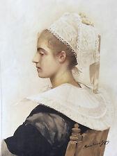 """Maximilienne Guyon """"Maris Stella"""" lithographie originale 1898 L'estampe Moderne"""