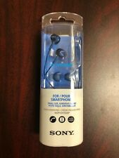 SONY MDR-EX155AP Closed Dynamic In-Ear Headphones In-line Remote Mic Blue NEW