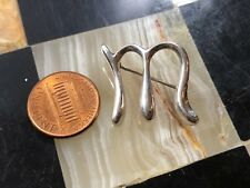 """T&Co Tiffany & Co Peretti Signed 925 Sterling Silver Alphabet Letter """"M"""" Pin"""