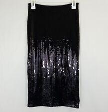 Olsenboye Sequin Pencil Skirt Size 1 Juniors Black Formal Back Zip Slit Costume