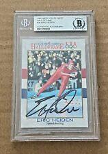 ERIC HEIDEN SIGNED 1991 IMPEL OLYMPIC HOF CARD BECKETT CERTIFIED