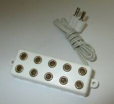 Distributor BAR With Connection Cable, 5 Connections For Plug (2,6mm) White New