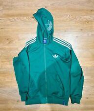 ADIDAS Retro Vintage Full Zip Hoodie Track Top Size L Green