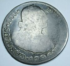 1795 NG M Guatemala Silver 2 Reales Spanish Colonial 1700's Two Bits Pirate Coin