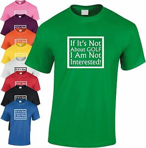 If It's Not About Golf Not Interested Children's T Shirt Kid's Fishing Tee
