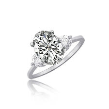 Diamond Oval Shape 18k Gold Engagement Ring GIA Certified 2.60 Carat